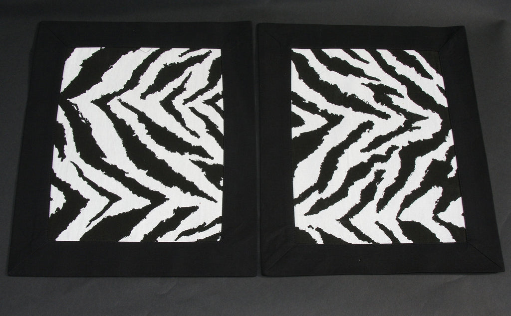 Wall Art/Placemat Zebra Print  African Black and White - culturesinternational  - 1