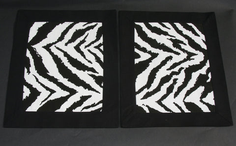 Wall Art/Placemat Zebra Print  African Black and White - Cultures International From Africa To Your Home