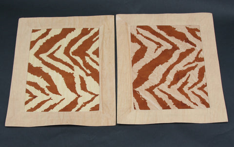 Placemat/Wall Art Zebra Print - Brown Siena Tan - Cultures International From Africa To Your Home