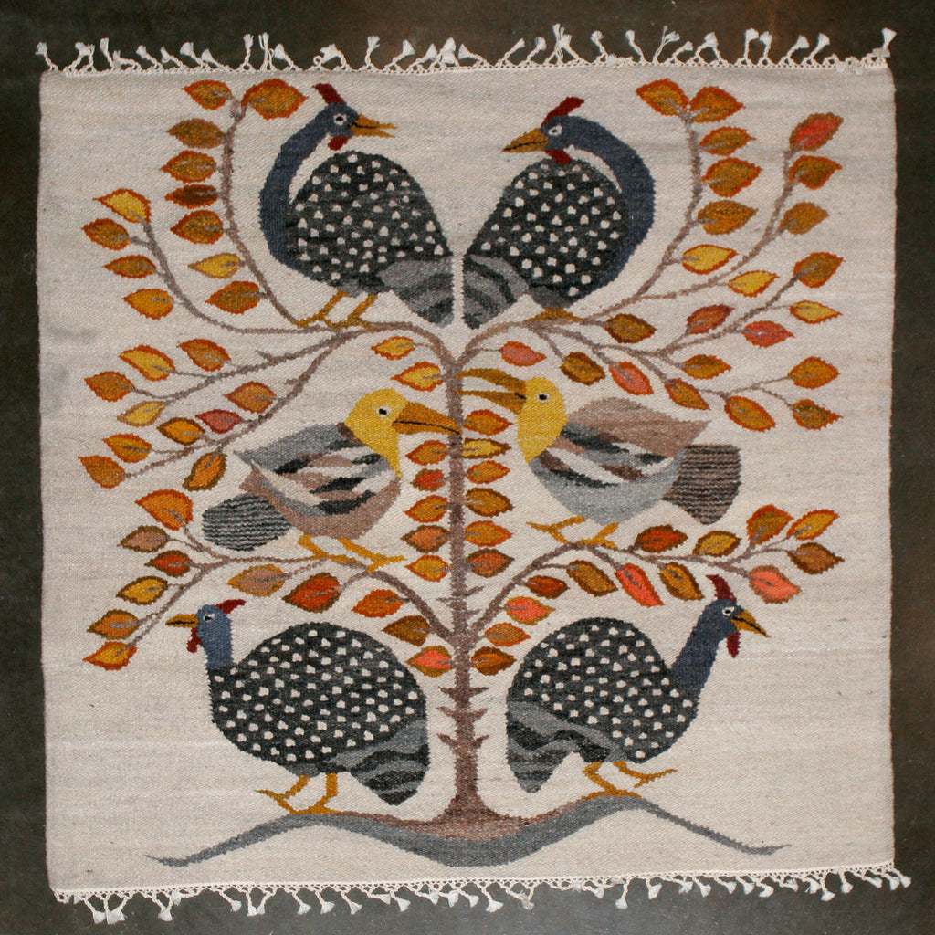 "African Carpet Tree of Life Handwoven in Namibia 54"" X 58"" - Cultures International From Africa To Your Home"