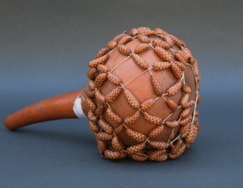 Sekere Gourd and Bead Drum Rattle Cameroon - culturesinternational  - 1