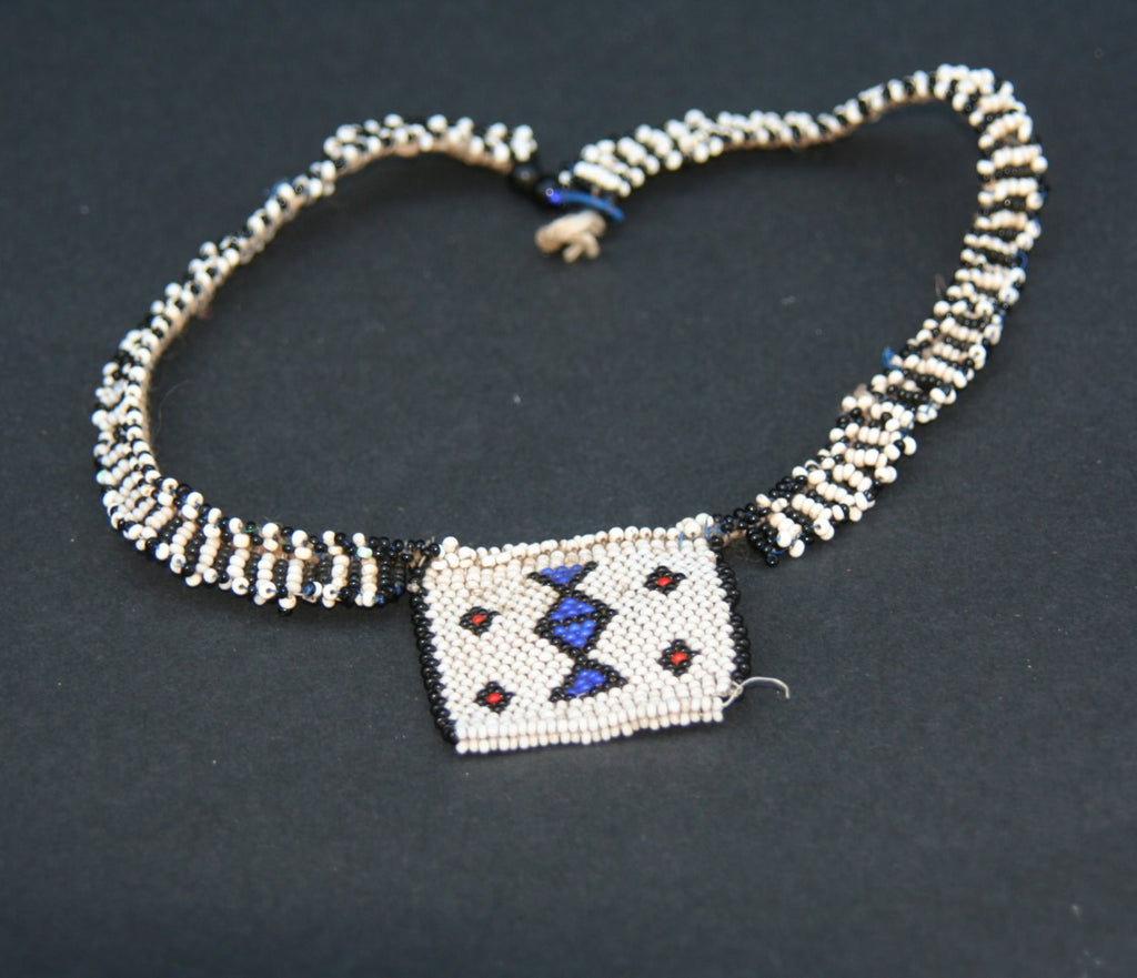 Vintage African Zulu Love Letter Beaded Choker Necklace - Cultures International From Africa To Your Home