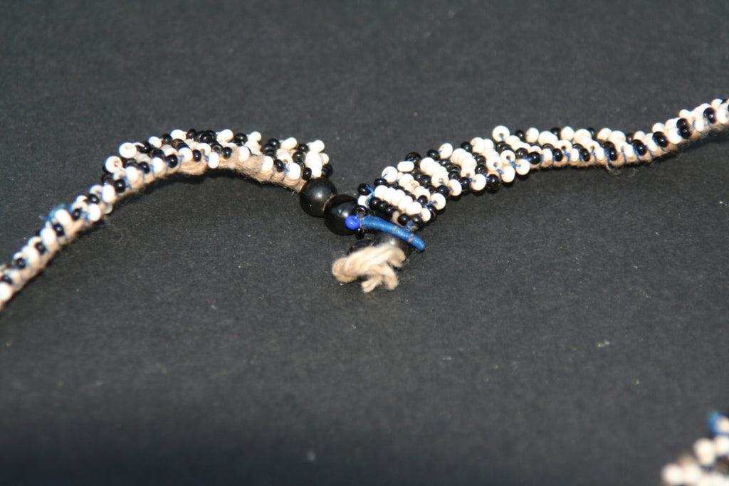 Vintage African Zulu Love Letter Beaded Choker Necklace
