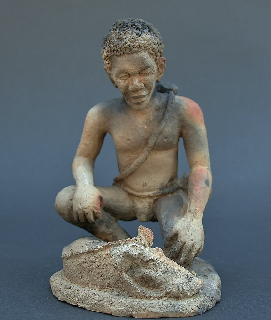 "African Hunter Sculpture  7"" X 5.5"" - Cultures International From Africa To Your Home"