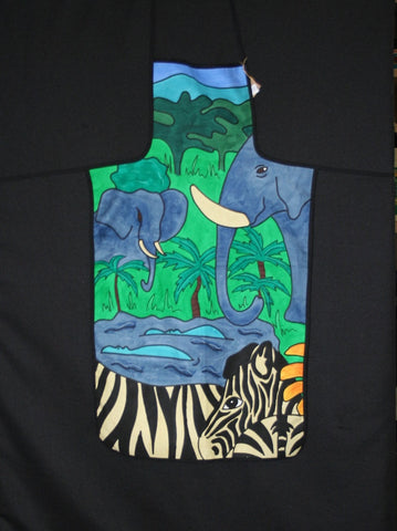 Apron Animal African Safari Elephant Zebra South Africa - Cultures International From Africa To Your Home