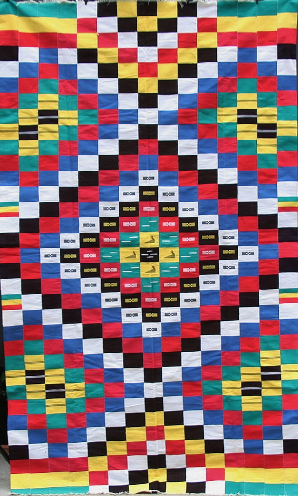 African Ewe Kente Textile Handmade Antique/Checkered Diamond Design - Cultures International From Africa To Your Home