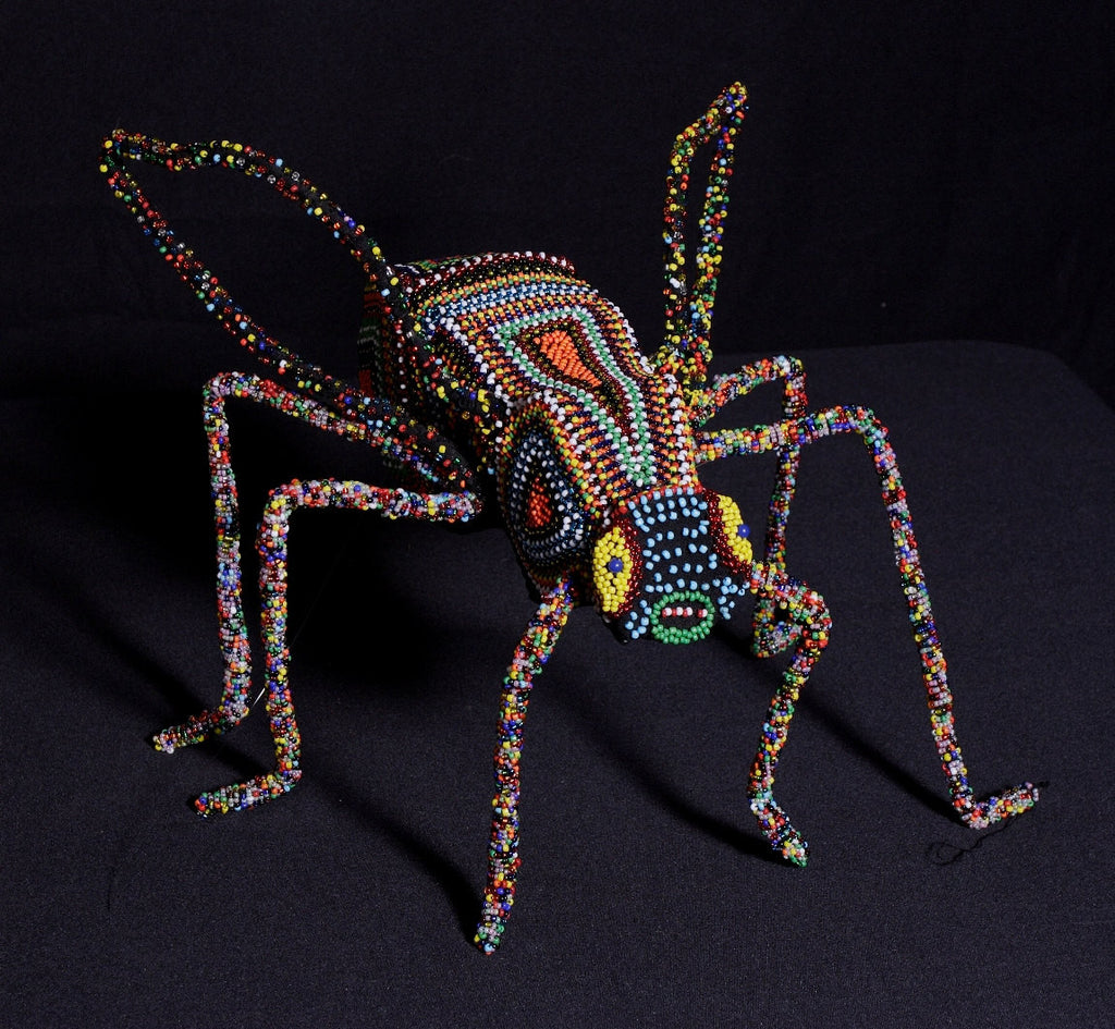 "Beaded African Fly Sculpture 12"" X 14"" W X 14.5"" W - culturesinternational  - 1"