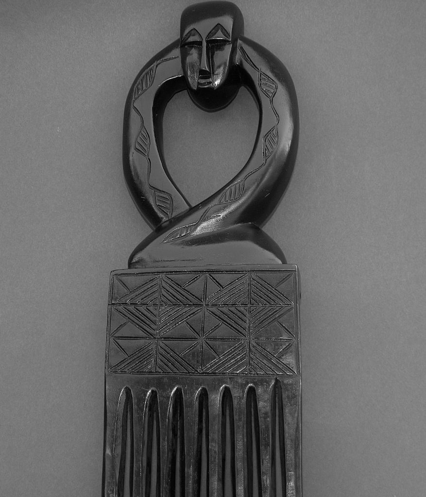 "African Comb Wood Carved 21"" H Decorative Wall Hanging Ghana - Cultures International From Africa To Your Home"
