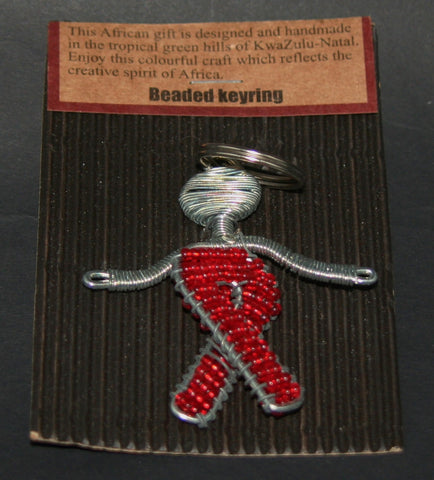 African Aids/Cancer Beaded Key Chain - culturesinternational