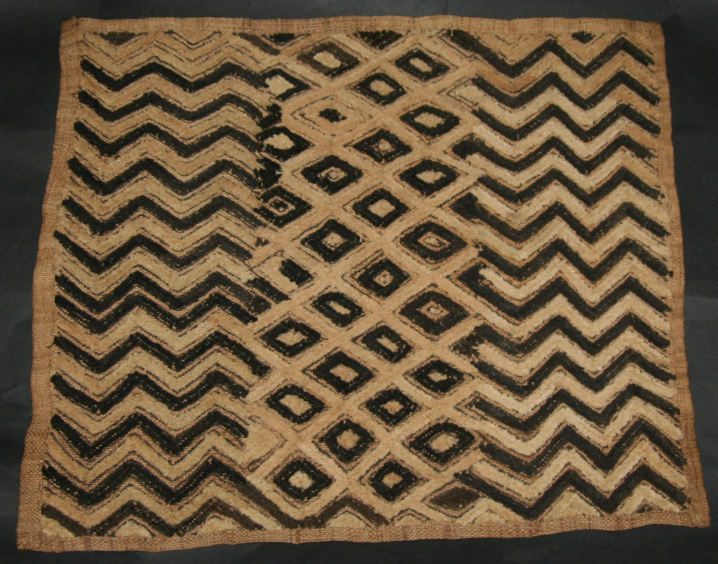 Vintage African Kuba Shoowa Ceremonial Cloth - Handwoven in the Congo DRC - Cultures International From Africa To Your Home
