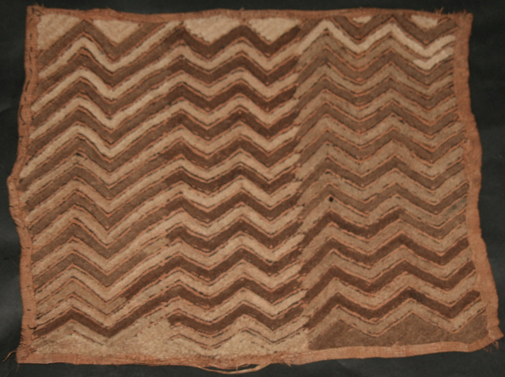 "African Kuba Shoowa Cloth 10 -  Vintage Handwoven in the Congo DR 20"" X 17"" - Cultures International From Africa To Your Home"