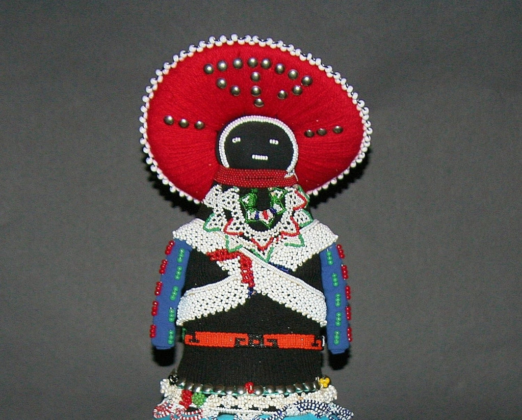 African Zulu Msinga Doll Collectible - Vintage - Cultures International From Africa To Your Home