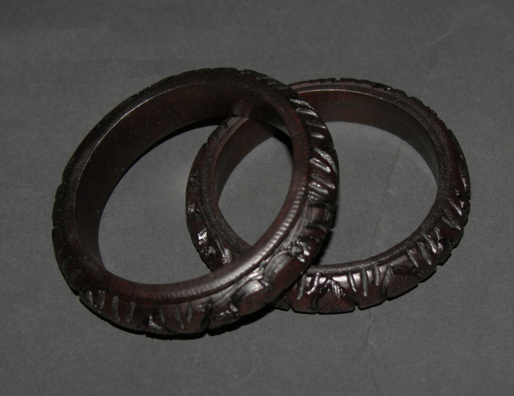 African Bracelet Carved Rosewood Handcrafted in Tanzania - 1 Bracelet - Cultures International From Africa To Your Home