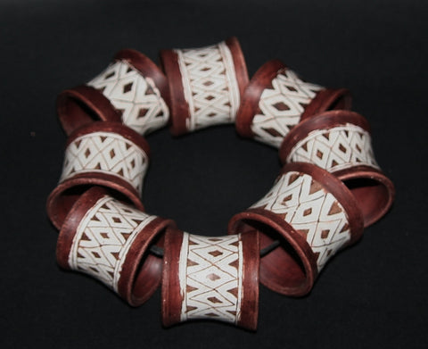 Napkin Rings Clay Pottery Handmade South Africa Set of 8 - Cultures International From Africa To Your Home