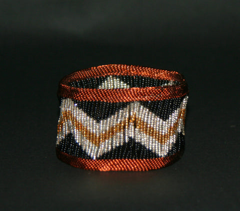 African Bead Wire Bracelet Copper Black Silver Gold