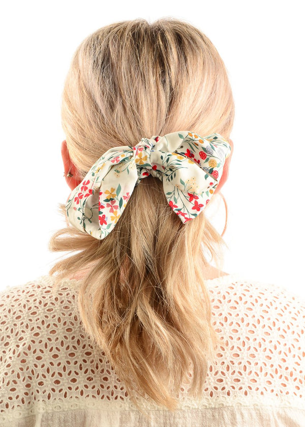Hair Scrunchie / Ivory Floral