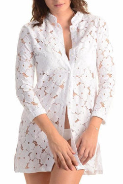 Bali Beach Blazer / White Lace - Walker&Wade  - 1