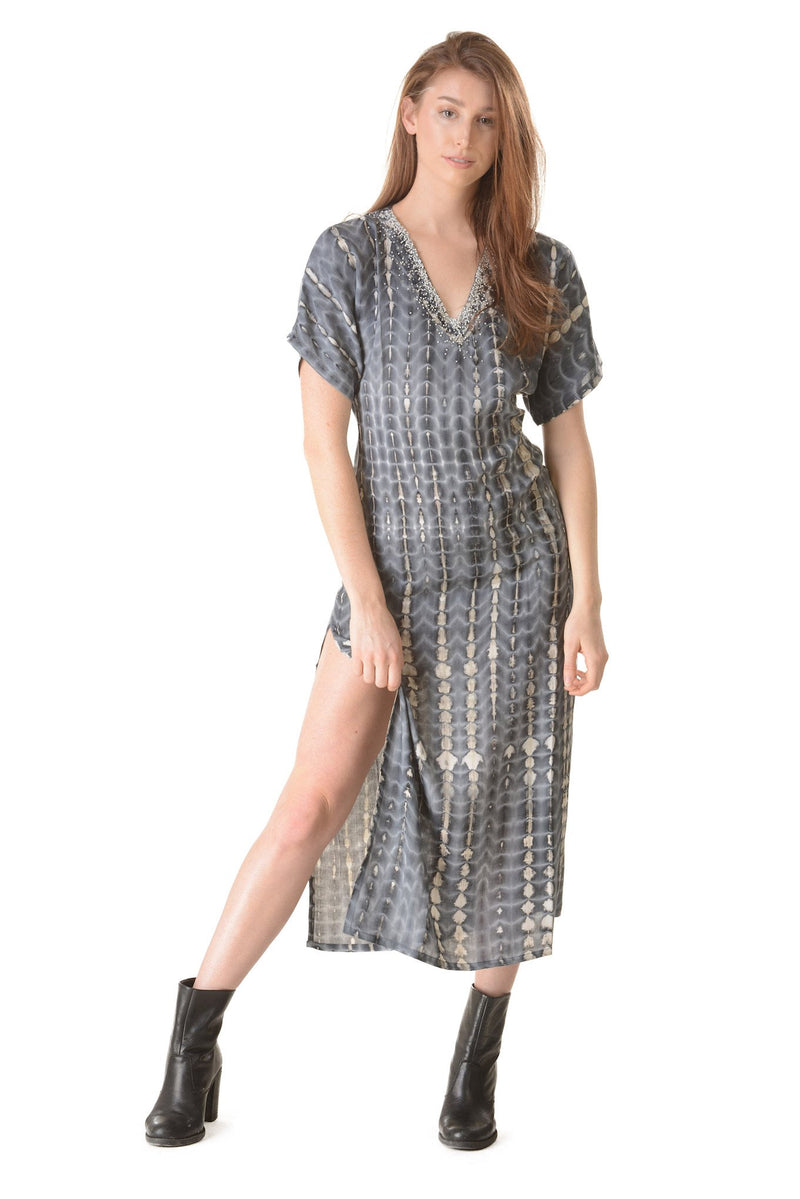 Uluwatu Dress / Charcoal - Walker&Wade  - 4