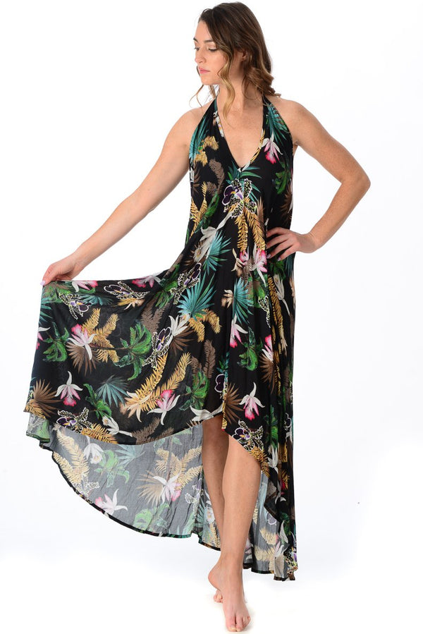 Paradise Dress / Black Orchid