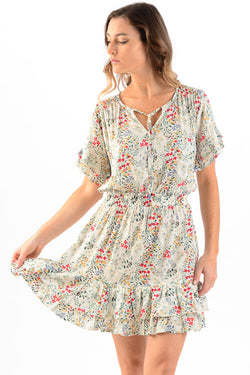 Courtney Dress / Ivory Floral