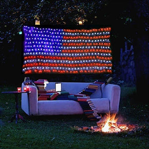 American Flag 420 Led String Lights-Large Usa Flag Outdoor Lights