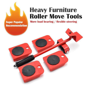 Furniture lifter transport roller set