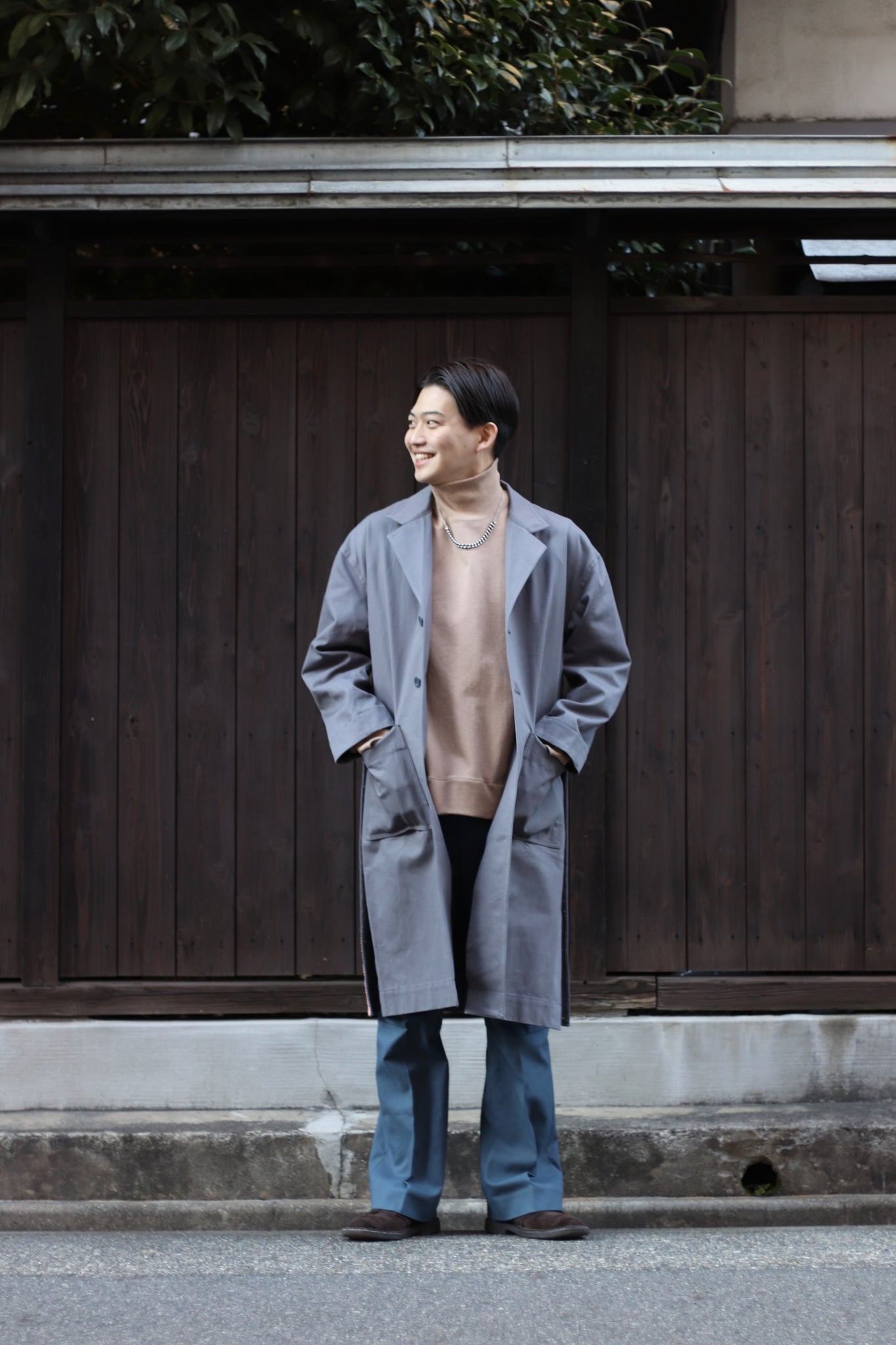 SHINYAKOZUKA21SS WORK COAT WITH YBIKU HENRIQUE YUDI
