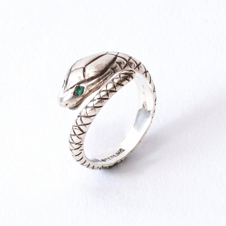 SOLARIS  SNAKE RING(SILVER)