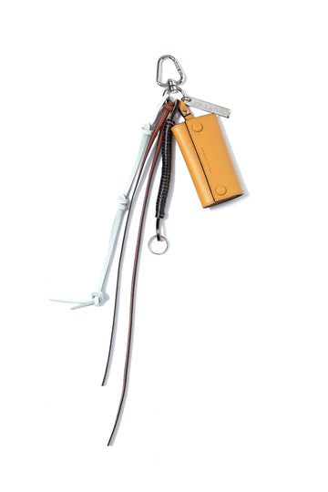 soe  Key Ring With Leather Strap(YELLOW)
