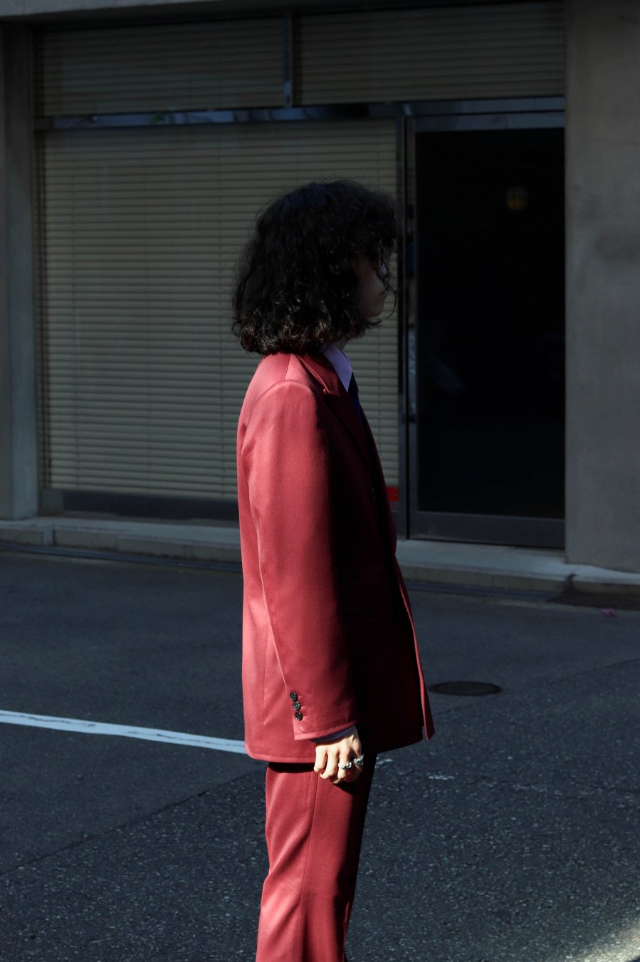 LITTLEBIG  Double Breasted Jacket(BORDEAUX)