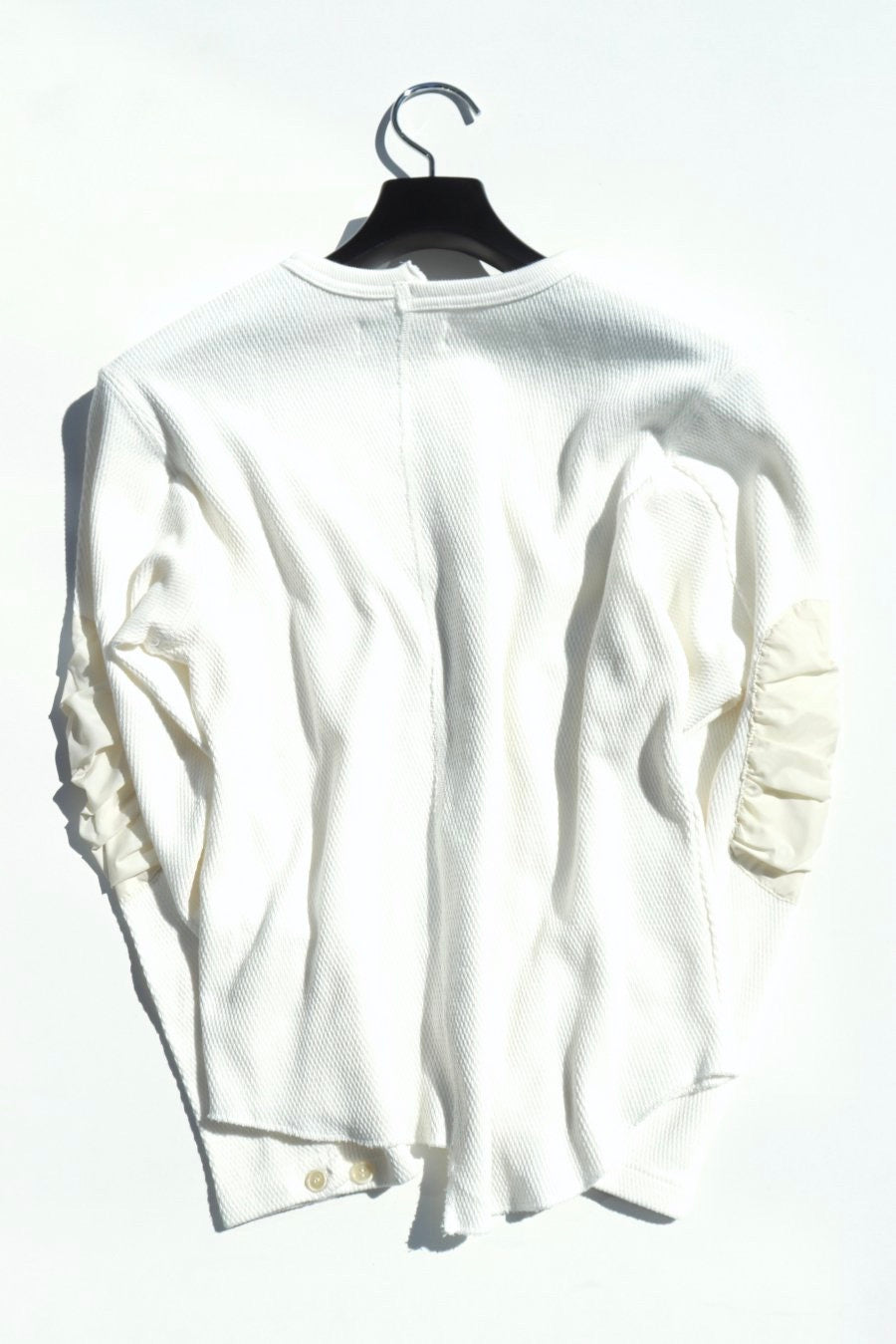 BELPER  THERMAL CARDIGAN(WHITE)