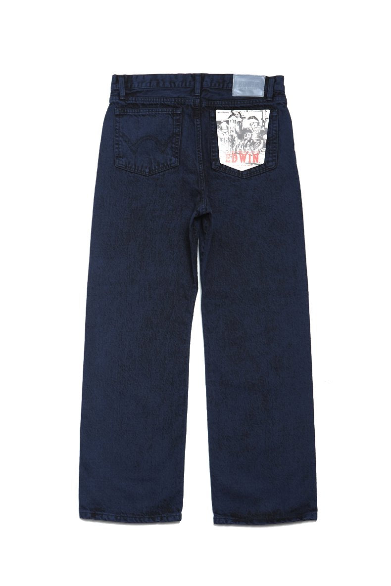 soe  Bleach & Color Jeans collaborated with EDWIN(NAVY)