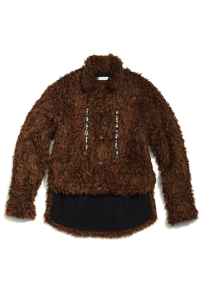 soe  Bear Jacket with Natural Stone(BROWN)