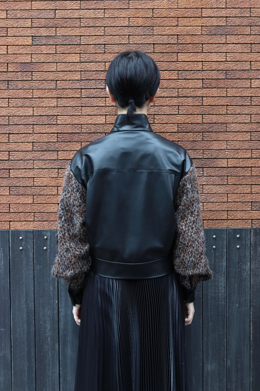 soe  Leather Tweed Bomber