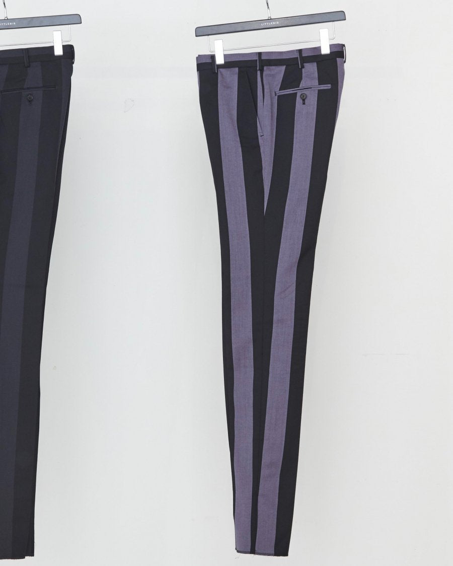 【20%OFF】LITTLEBIG  Stripe Slim Trousers( Purple Stripe )