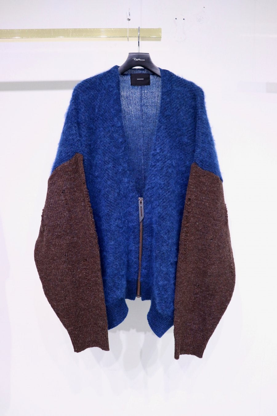 【20%OFF】[ー]MINUS  DAMAGED MOHAIR CARDIGAN(BROWN)