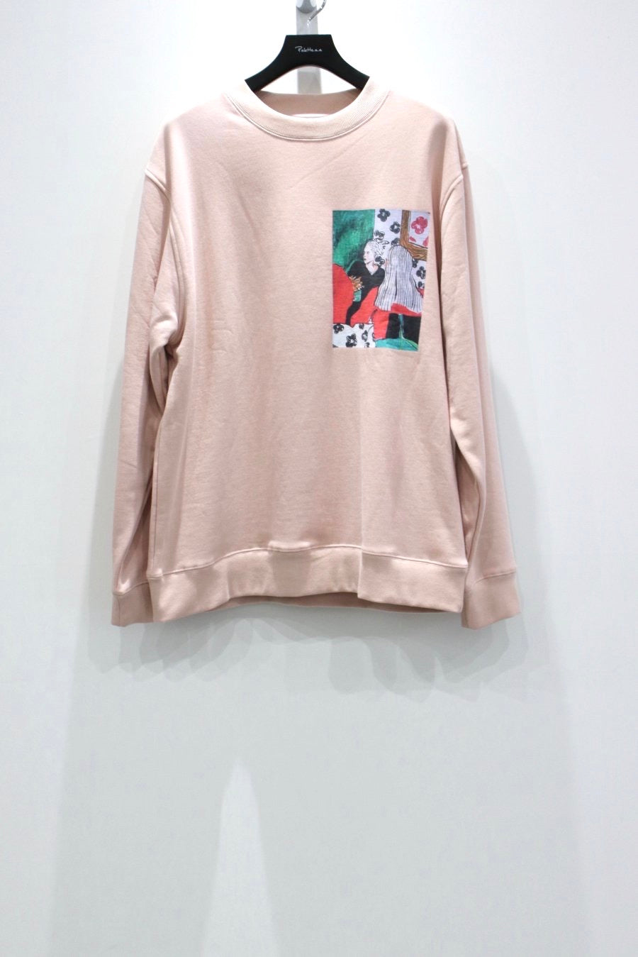 VICTORIA  TWO LADIES CREWNECK-PEACH