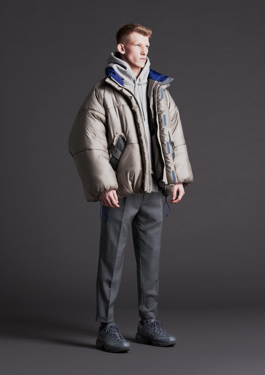 elephant TRIBAL fabrics  Fat Down JKT(GRAY)