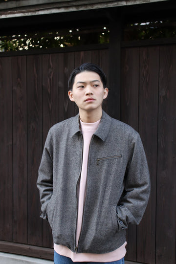 【20%OFF】VICTORIA  TWEED CAR COAT-SLATE GREY