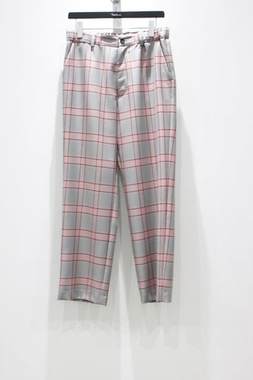 【30%OFF】KIIT  W/E HOMBRE CHECK EASY TROUSERS