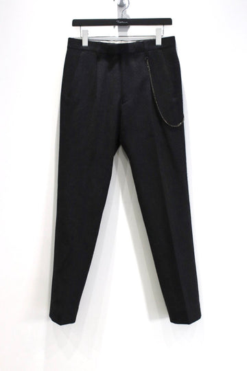 【20%OFF】soe  Stripe Pattern Slim Fit Trousers with Metal Code