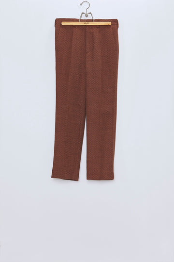 MASU  FLARE TROUSERS(RED BROWN)