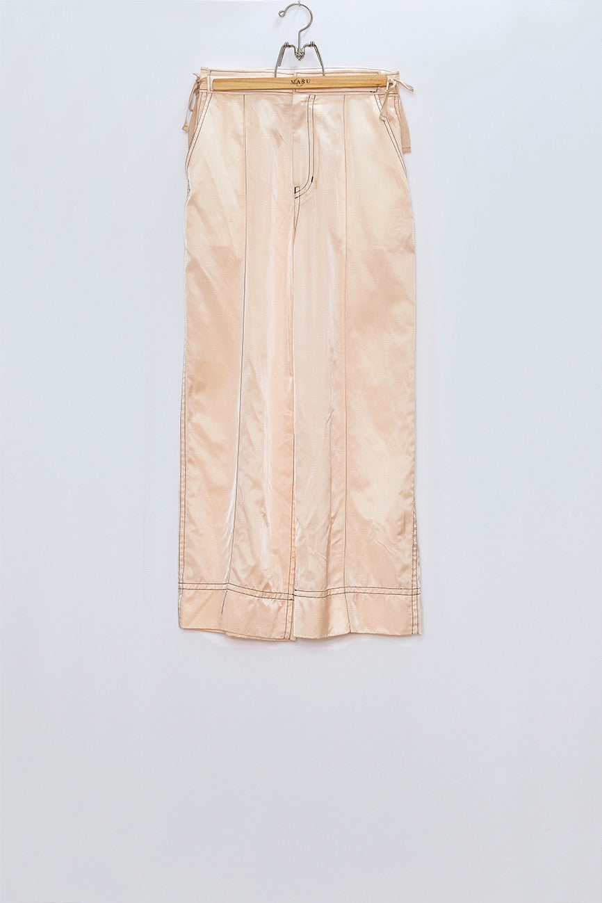 MASU  RIBBON WIDE TROUSERS(PINK BEIGE)