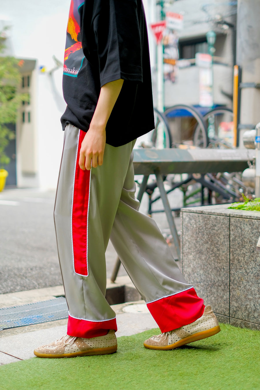 SYU.HOMME/FEMM  Hang-out Pajama Pants(Gr&Red)