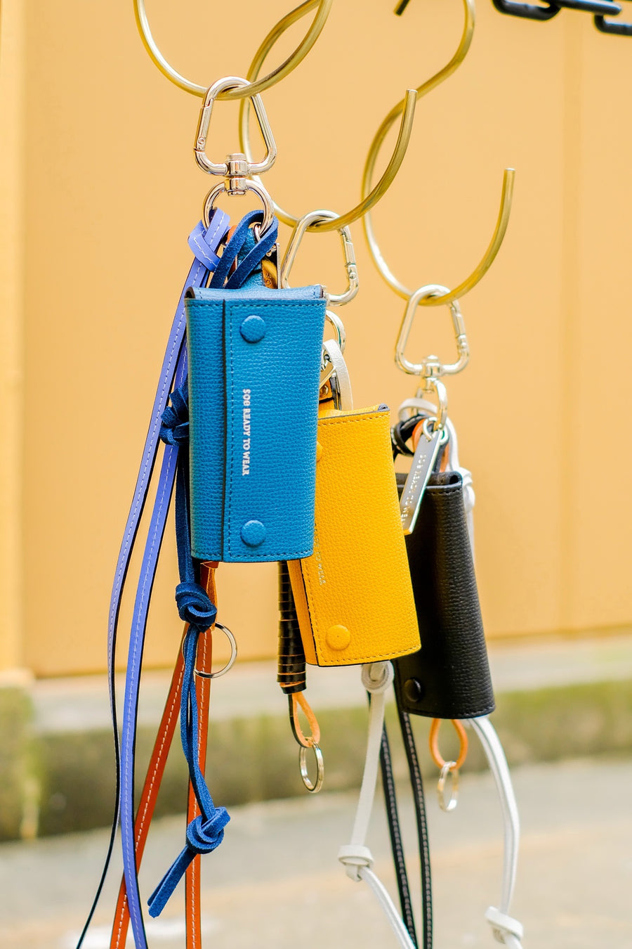 soe  Key Ring With Leather Strap(BLUE)