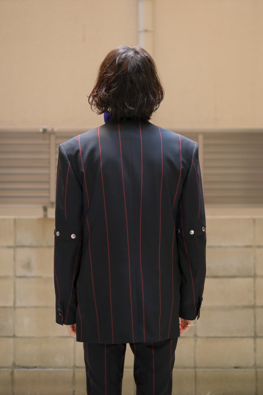 LITTLEBIG  Removable Stripe Single Jacket(Black or Navy or Brown)