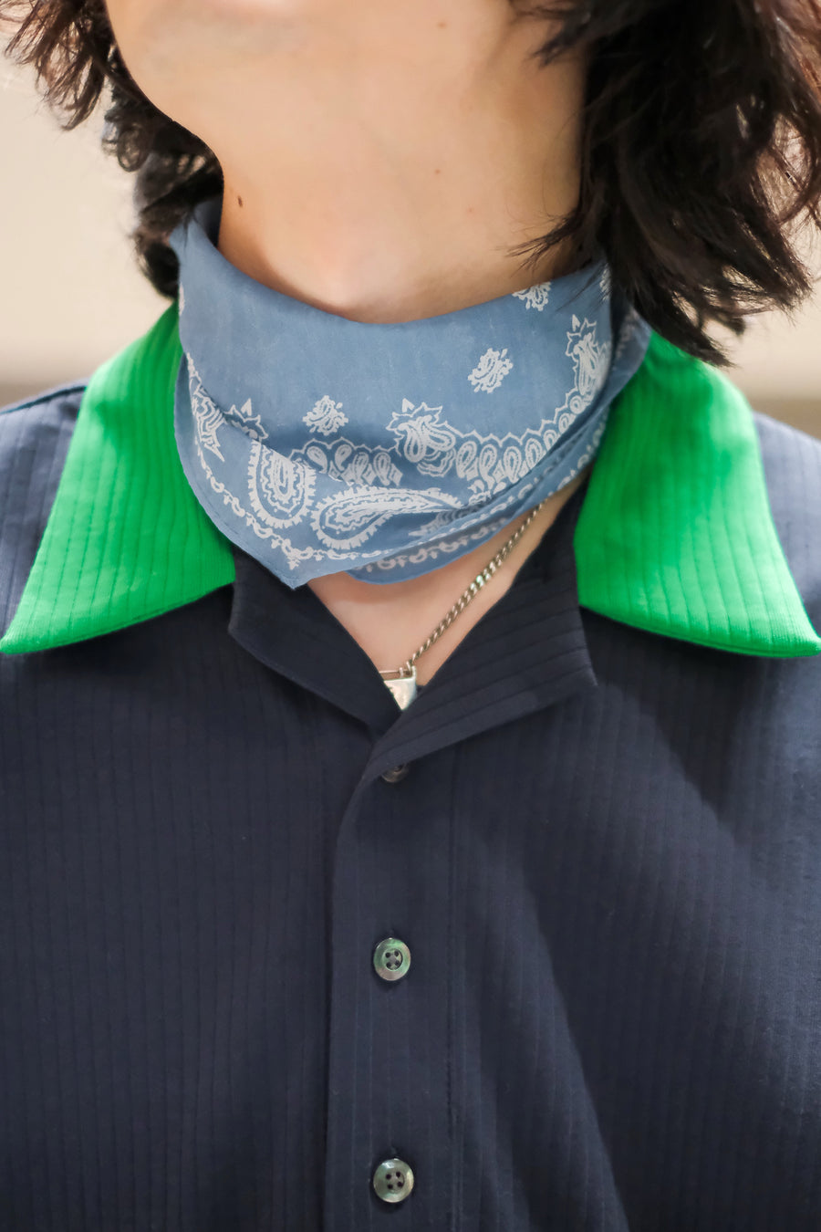 JOHN MASON SMITH  PRINT SCARF(GREEN)