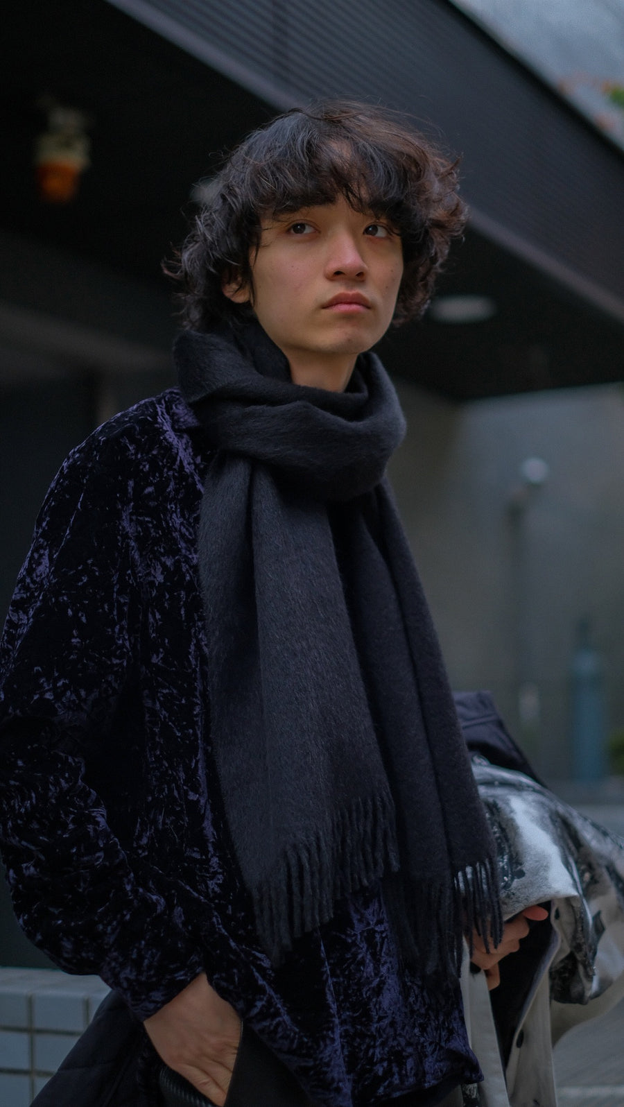 LITTLEBIG  Wool Scarf(BLACK)