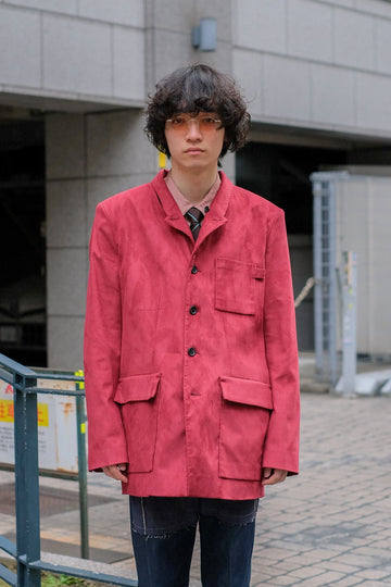 【20%OFF】[ー]MINUS  TAILORED JACKET(WINE)