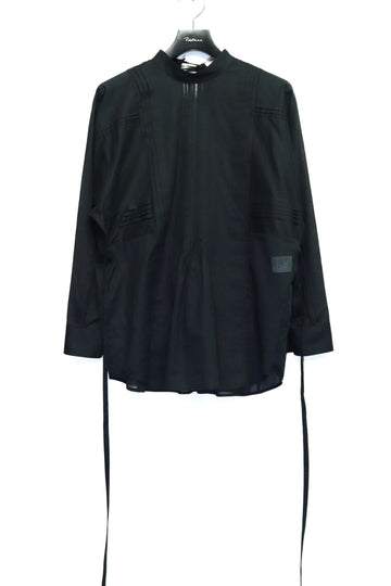 LENZ  PIN TUCK SHIRT(BLACK)